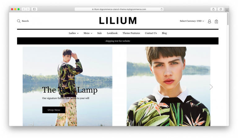 Lilium Bigcommerce Stencil Theme